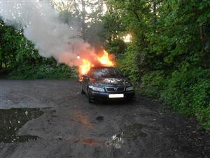 Car fire in Crewe