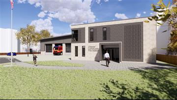 Artists impression of Chester Fire Station