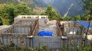 The school being built in Bung