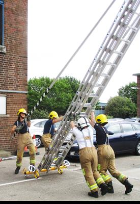 Ladder training for Red Watch
