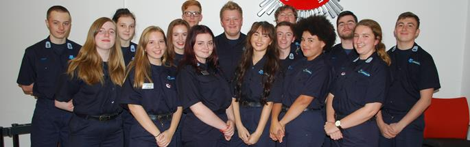 Photo of the group of cadets who have gone to Nepal to help build a school in Oct 2017