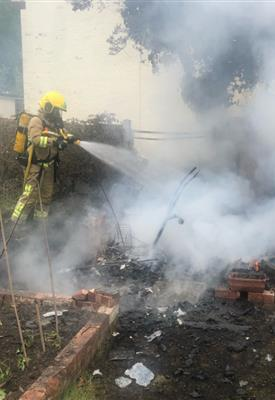 Warning issued after residents suffer flash burns from garden fires