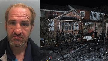 Robert Helm and the damage caused by the fire
