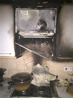 Damage after chip pan fire in Warrington