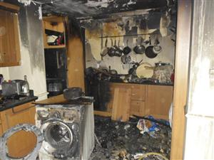 Tumble dryer fire in Chester