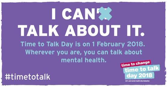 Time to Talk Day. A day that aims to bring the nation together to get talking and break the silence around mental health