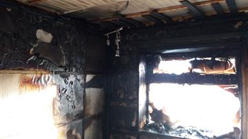 The fire completely destroyed the kitchen