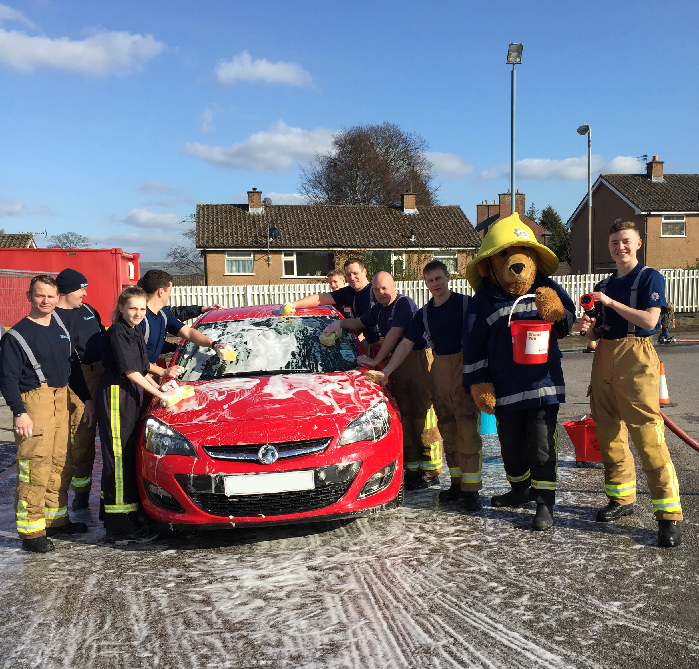 Charity Car Wash At Congleton Fire Station