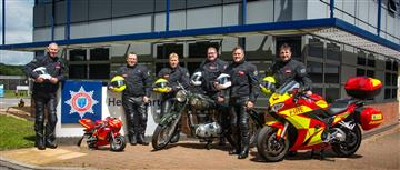 Fire bike team at Cheshire Fire and Rescue Service