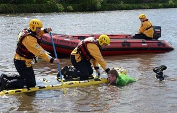 Swift water rescue trained firefighters will be giving water safety advice to Widnes schoolchildren