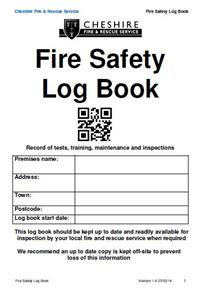 Fire Safety Log Book Cover
