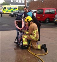 First enable have a go at shooting the hose