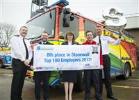 Cheshire Fire and Rescue Service ranked 8th in the LGBT charity Stonewall's prestigious Top 100 Employers list for 2017