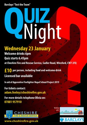 Quiz night in aid of Nepal open to all