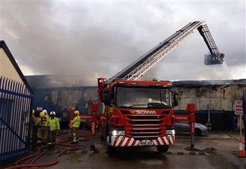 Building fire in Widnes