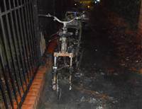 Motorbike destroyed by fire