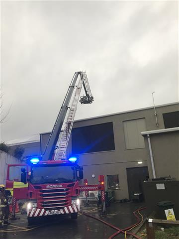 Aerial ladder platform at Chester Zoo