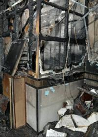 fire damage to a business premises