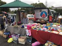 Fire cadet Hannah Ford at the car boot sale in Chester