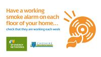 Have a working smoke alarm on each floor of your home.  Check that they are working each week