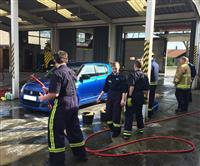 Car wash at Runcorn Fire Station