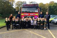 Firefighters visit St Benedicts in Handforth