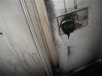 Damage to plug socket after flat fire in Ellesmere Port