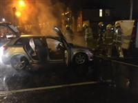 Birchwood firefighters tackle warrington car fire