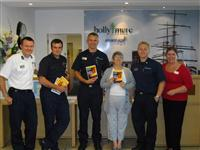 Firefighters spreading safety messages at Hollymere Retirement Village