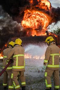Flames hotting up at exercise