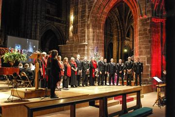 Cheshire Fire Choir  performing at the Christmas Carol Concert