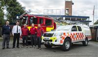 Image shows (l to r): Colin Eggleton, President Wilmslow Dean Rotary Club; Wilmslow Station Manager Duncan Palin and from Cheshire Search and Rescue, team leader Simon Lane, deputy team leader Mark Susca and deputy team leader Rick Lane