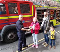 Firefighters engage with the local community