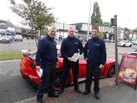 Wilmslow firefighters at Wilmslow motor show