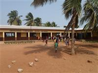 A school built in Gbatana by Cheshire Fire cadets on a previous visit to Ghana