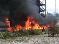 Pool fires created for training exercise