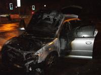 Aftermath of car fire in Warrington