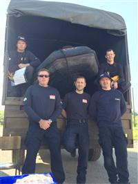 Cheshire firefighters in Bosnia