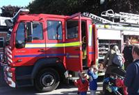 Wilmslow firefighters engaging with public