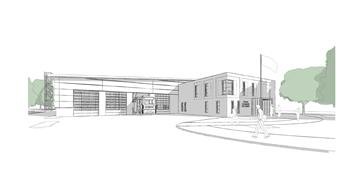 Proposed design for Chester Fire Station