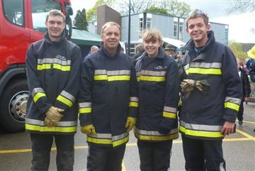 Four of Cheshire Fire and Rescue Service's volunteers