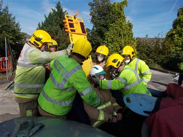 Firefighters rescue colleagues from police in mock exercise