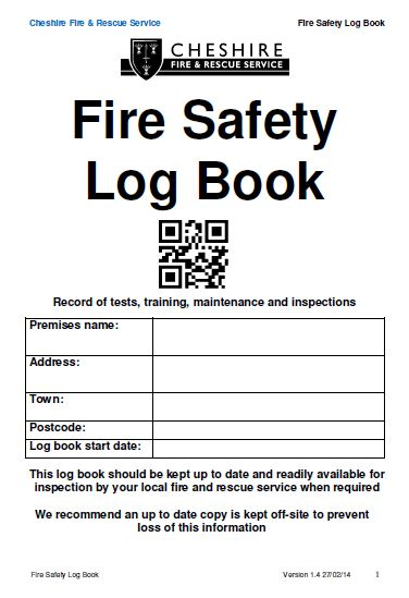 Fire safety log book for Fire alarm log book template