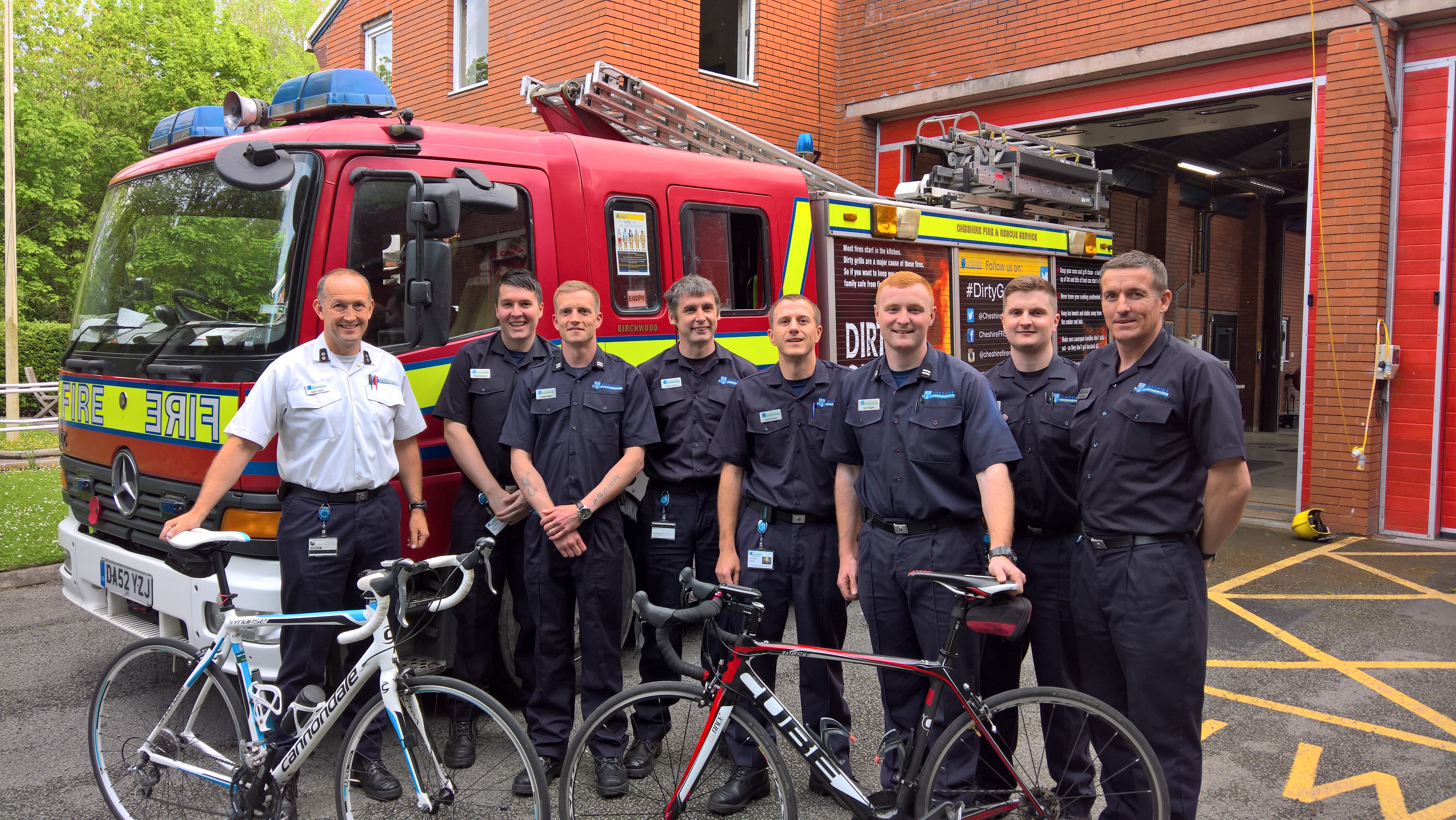 Fire crews complete charity bike ride