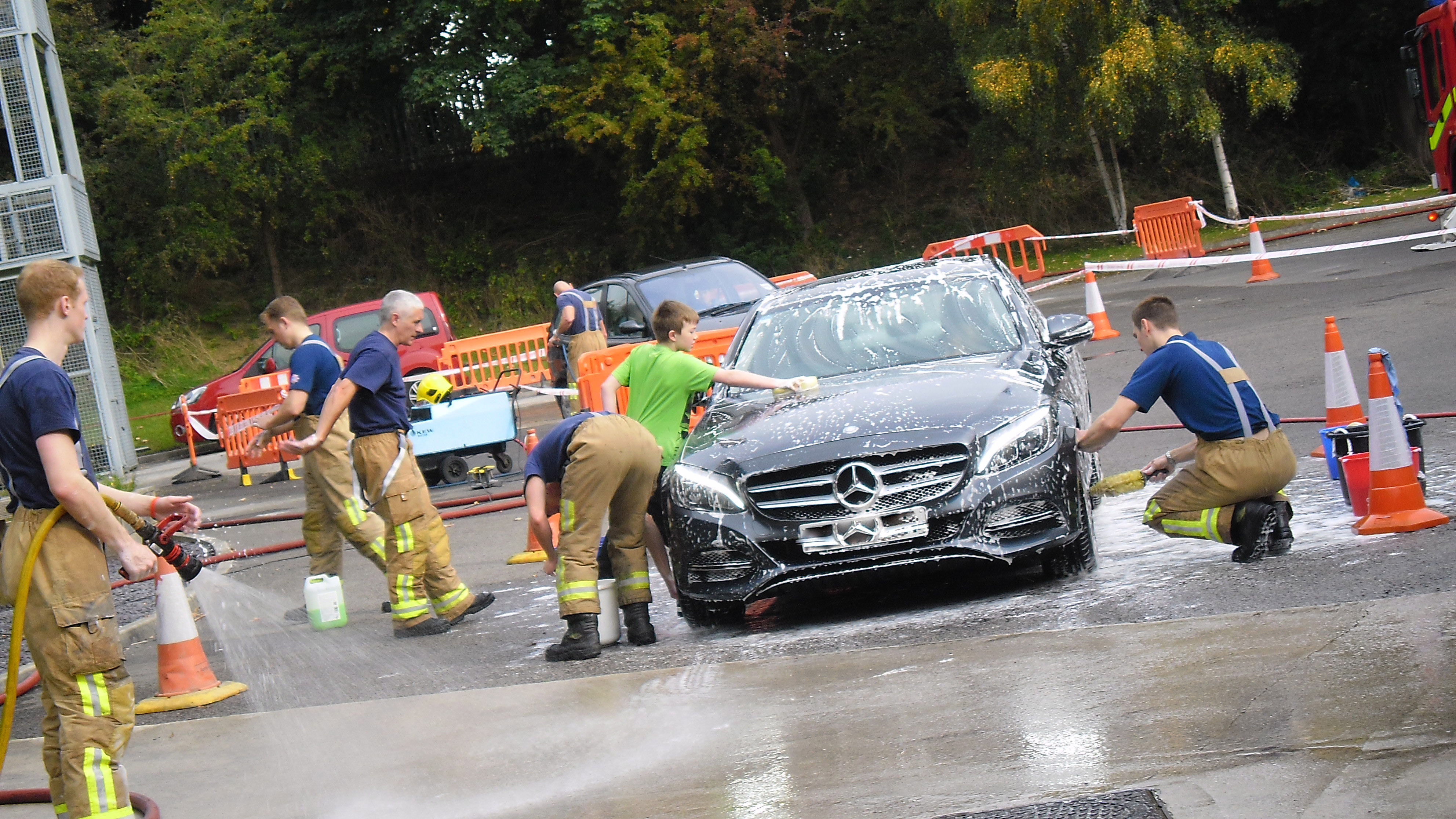 Firefighters Spring Charity Car Washes