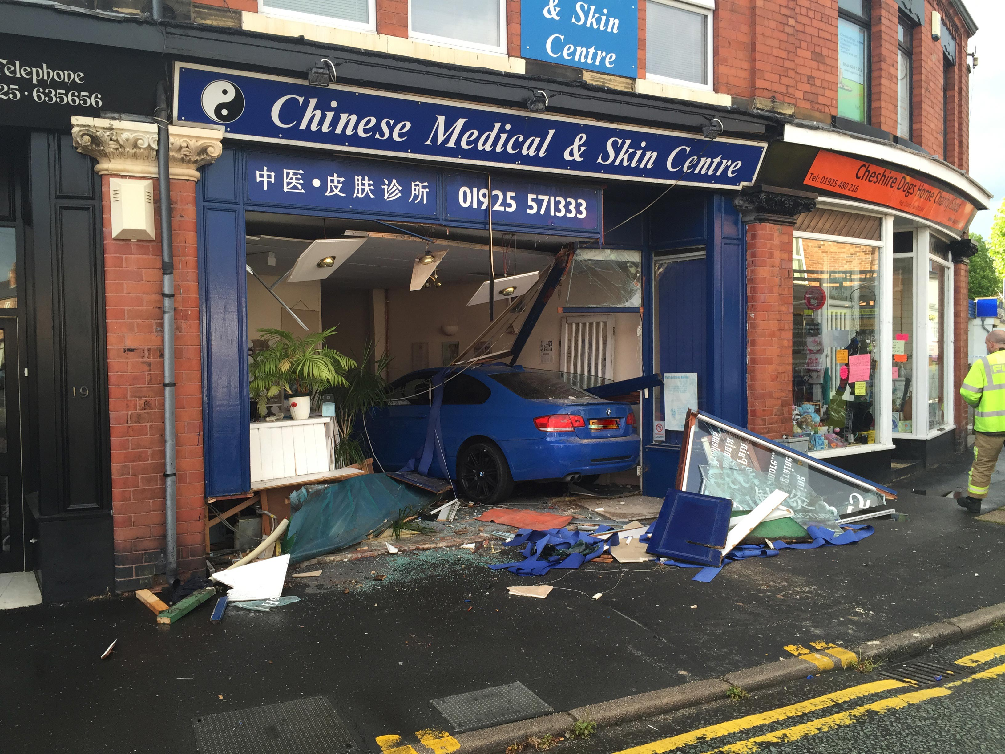 car collides with building in warrington. Black Bedroom Furniture Sets. Home Design Ideas