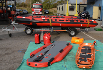 the SIT ResQcraft 5000 inflatable rescue boat and equipment
