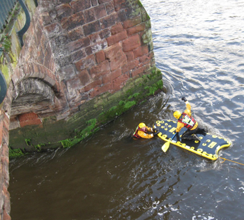 River Dee rescue exercise