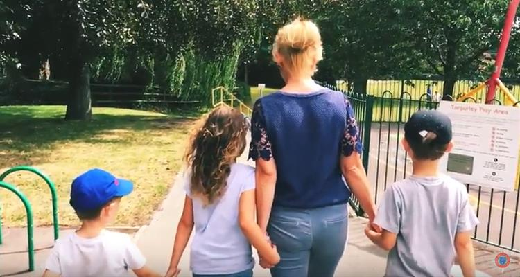 Lisa and her children