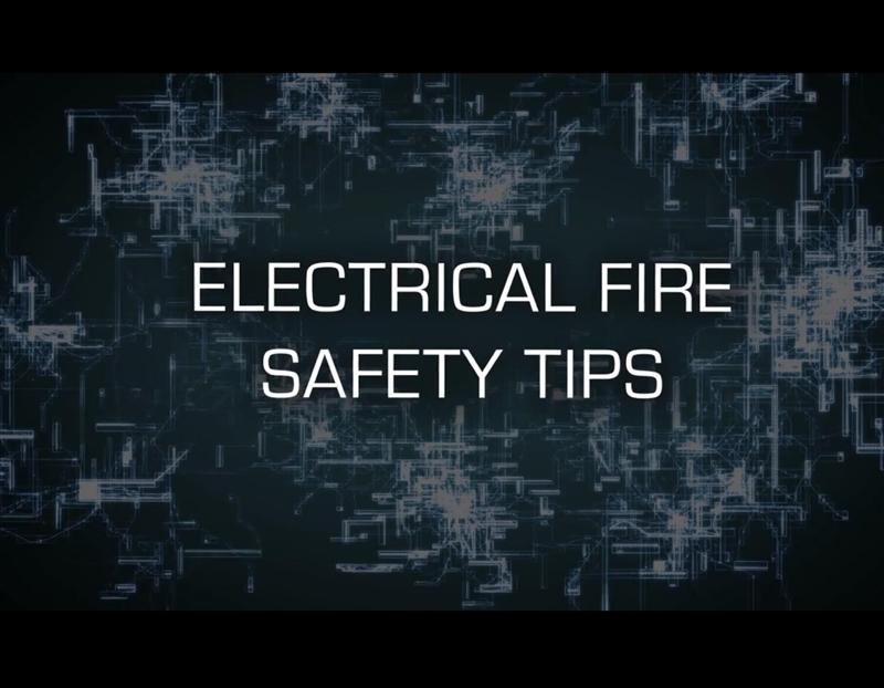 first screen of the electrical fire safety video